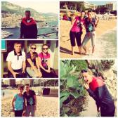 Petra Kvitova off court during holidays in Monaco with family
