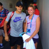 carina-witthoef-and-idol-roger-federer-australian-open-after-training