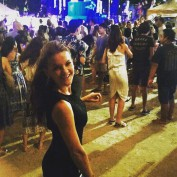 agnieszka-radwanska-shenzhen-wta-open-new-year-2016-fun-off-court-party-dress-smiling-polish